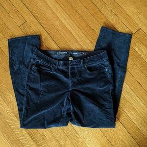 Women Sonoma Life + Style Navy Blue Corduroy Pants